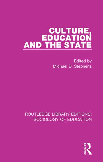 Culture, Education and the State book cover