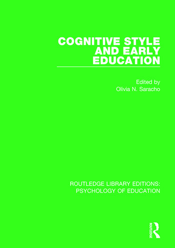 Cognitive Style in Early Education book cover