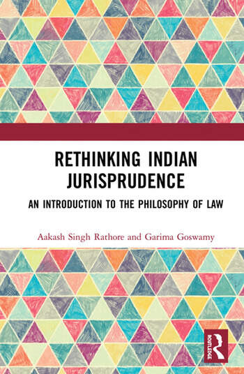 Rethinking Indian Jurisprudence An Introduction to the Philosophy of Law book cover