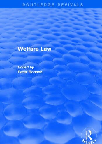 Welfare Law book cover
