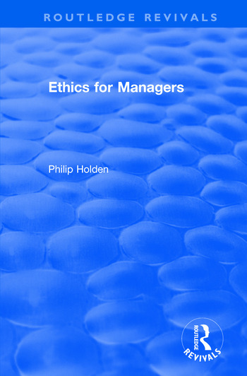 Ethics for Managers book cover