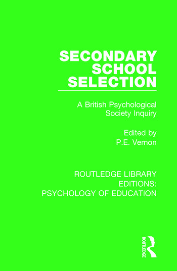 Secondary School Selection A British Psychological Society Inquiry book cover