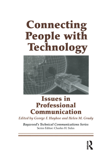 Connecting People with Technology Issues in Professional Communication book cover