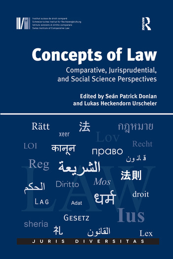 Concepts of Law Comparative, Jurisprudential, and Social Science Perspectives book cover