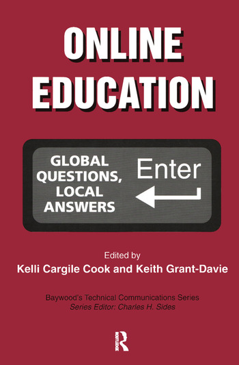 Online Education Global Questions, Local Answers book cover