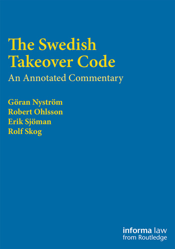 The Swedish Takeover Code An annotated commentary book cover
