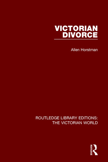 Victorian Divorce book cover