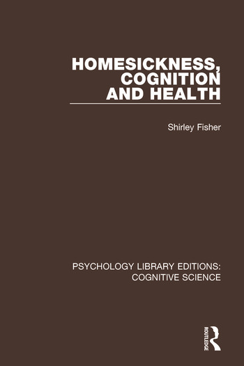 Homesickness, Cognition and Health book cover