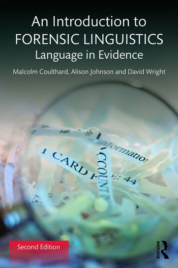 An Introduction to Forensic Linguistics Language in Evidence book cover