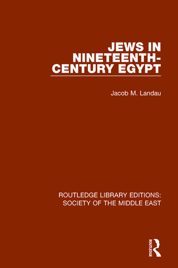 Jews in Nineteenth-Century Egypt book cover