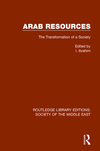 Arab Resources The Transformation of a Society book cover