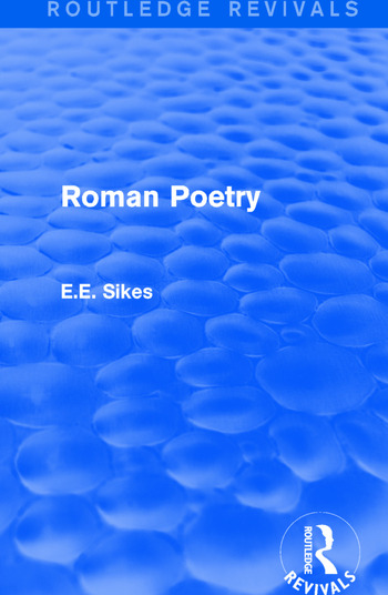 Roman Poetry book cover