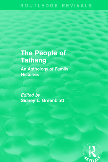 The People of Taihang An Anthology of Family Histories book cover