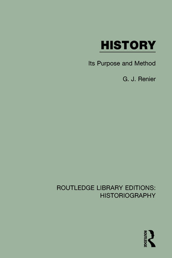 History Its Purpose and Method book cover