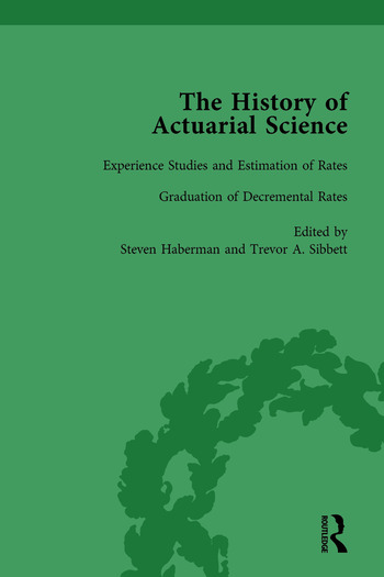 The History of Actuarial Science Vol X book cover