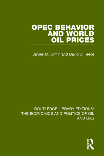OPEC Behaviour and World Oil Prices book cover