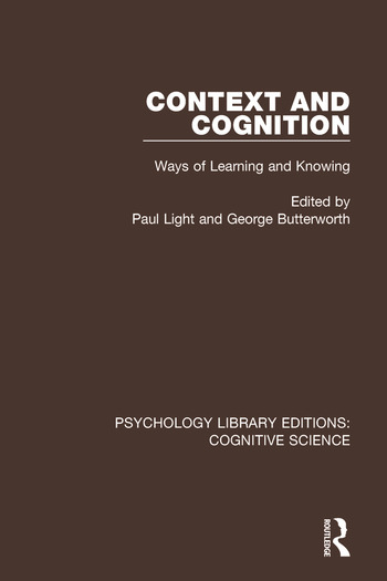 Context and Cognition Ways of Learning and Knowing book cover