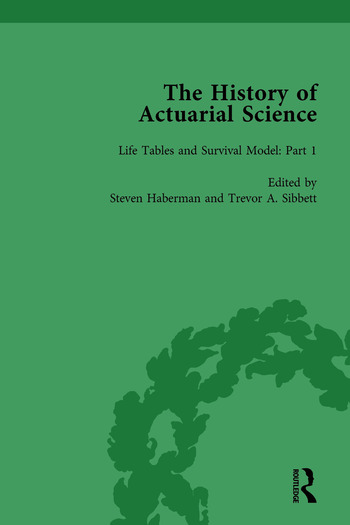 The History of Actuarial Science Vol I book cover