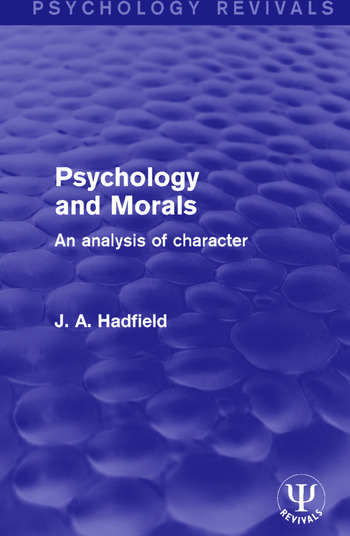 Psychology and Morals An Analysis of Character book cover