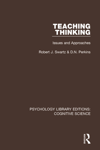 Teaching Thinking Issues and Approaches book cover