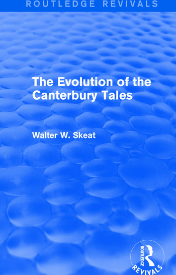 The Evolution of the Canterbury Tales book cover