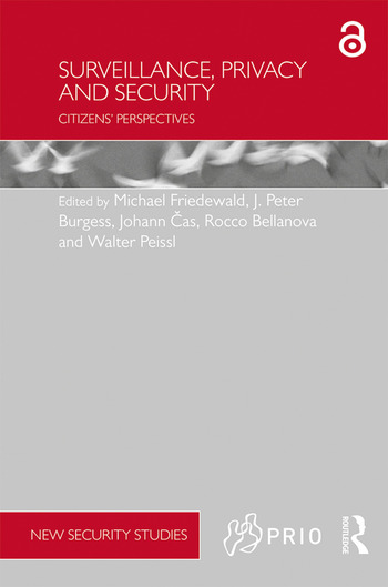 Surveillance, Privacy and Security Citizens' Perspectives book cover