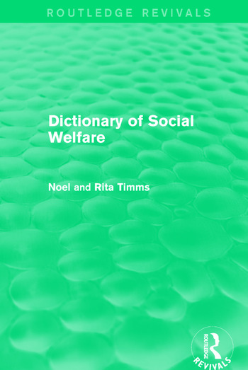 Dictionary of Social Welfare book cover