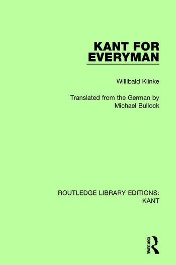 Kant for Everyman book cover