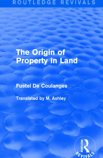 The Origin of Property in Land book cover