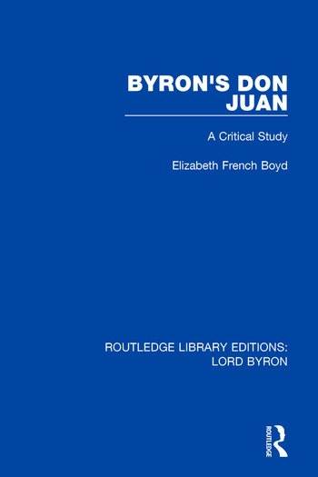 Byron's Don Juan A Critical Study book cover