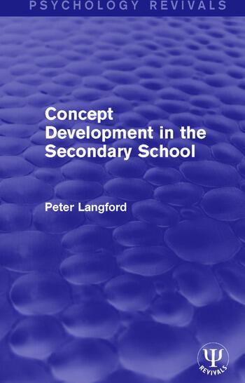 Concept Development in the Secondary School book cover