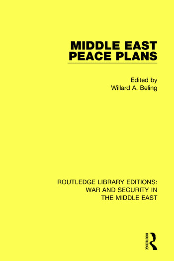 Middle East Peace Plans book cover
