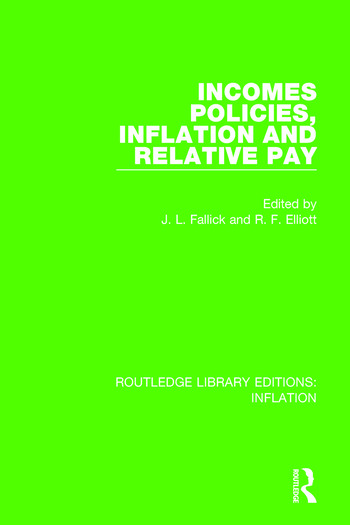 Incomes Policies, Inflation and Relative Pay book cover