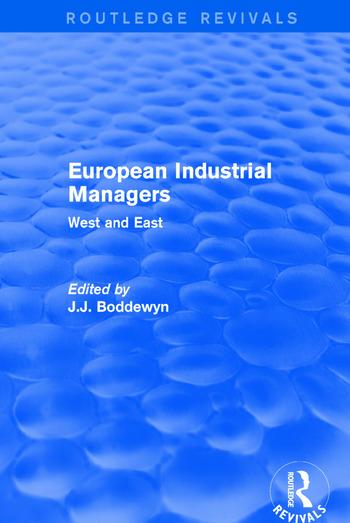 European Industrial Managers West and East book cover