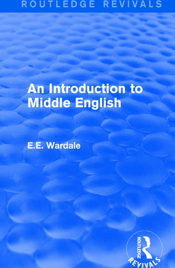 An Introduction to Middle English book cover