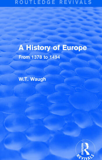 A History of Europe From 1378 to 1494 book cover