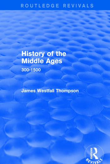 History of the Middle Ages 300-1500 book cover