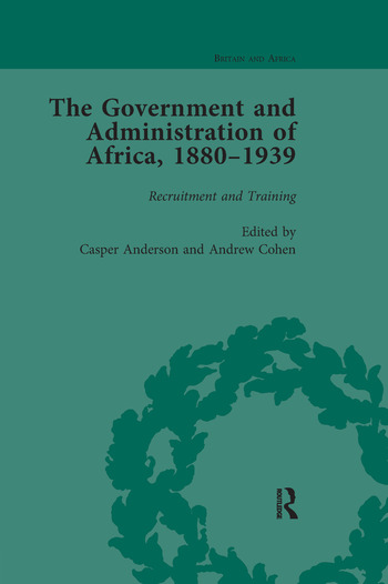 The Government and Administration of Africa, 1880–1939 Vol 1 book cover