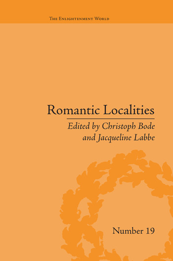 Romantic Localities Europe Writes Place book cover
