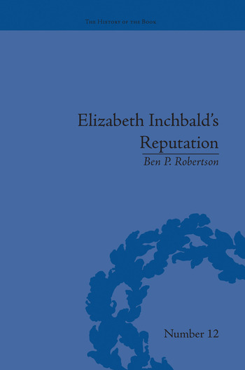 Elizabeth Inchbald's Reputation A Publishing and Reception History book cover