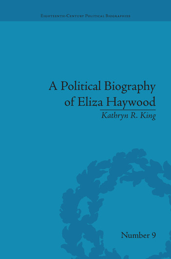 A Political Biography of Eliza Haywood book cover