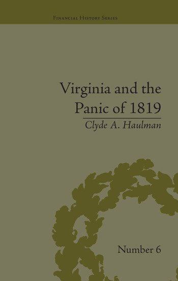 Virginia and the Panic of 1819 The First Great Depression and the Commonwealth book cover