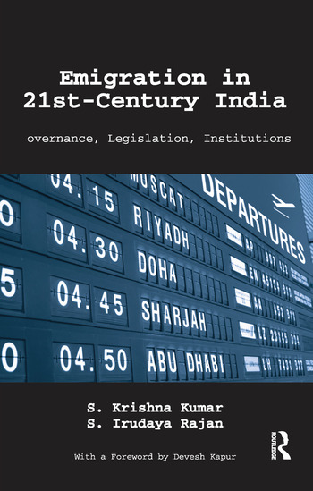 Emigration in 21st-Century India Governance, Legislation, Institutions book cover