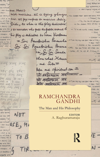 Ramchandra Gandhi The Man and His Philosophy book cover