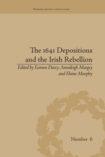 The 1641 Depositions and the Irish Rebellion book cover
