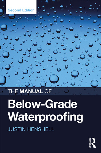 The Manual of Below-Grade Waterproofing book cover