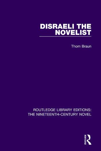 Disraeli the Novelist book cover