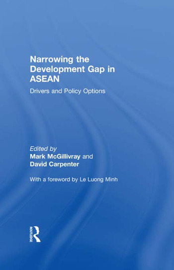 Narrowing the Development Gap in ASEAN Drivers and Policy Options book cover