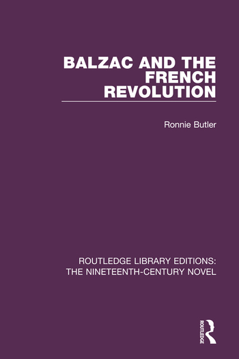 Balzac and the French Revolution book cover