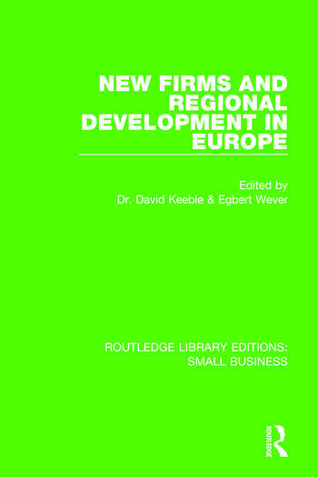 New Firms and Regional Development in Europe book cover